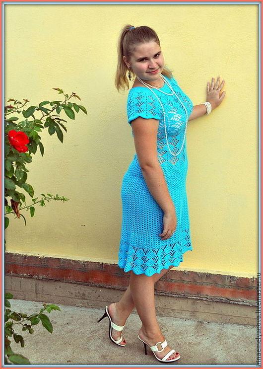 """Платья ручной работы. Ярмарка Мастеров - ручная работа. Купить Платье """"Голубая лагуна"""". Handmade. Голубой, для девушки"""