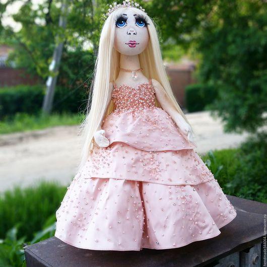 Коллекционные куклы ручной работы. Ярмарка Мастеров - ручная работа. Купить Интерьерная кукла Амелия.. Handmade. Бледно-розовый, подарок