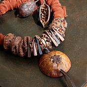 Украшения handmade. Livemaster - original item Necklace: textile with a pendant
