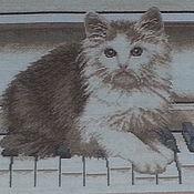 """Картины ручной работы. Ярмарка Мастеров - ручная работа картина """"Кот музыкант"""". Handmade."""