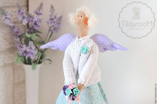 Лавандовый ангел Тильда. Авторская ручная работа. Мастерская `Tildaroom` (Люба Морозова) ©