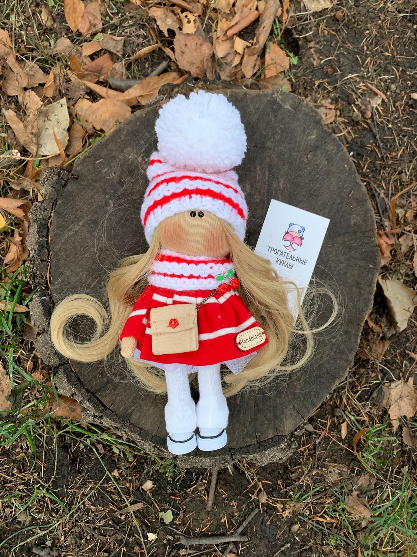 Новогодний гномик в шапочке, платье и с сумочкой, Куклы Тильда, Пенза,  Фото №1