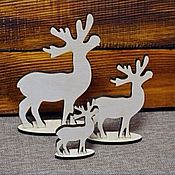 Материалы для творчества handmade. Livemaster - original item Deer on the stand-blank for decoupage, plywood 6mm. Handmade.