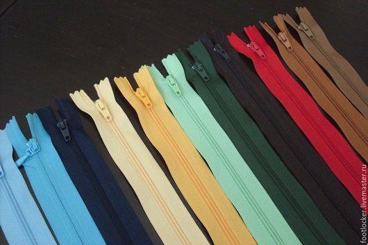 Шитье ручной работы. Ярмарка Мастеров - ручная работа. Купить Молния в ассортименте, цветная (неразъемная), 18 см и 12 см. Handmade.