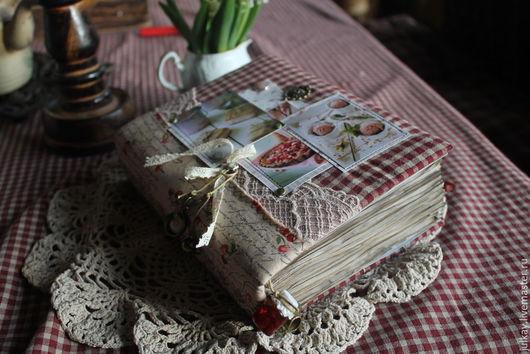 """Кулинарные книги ручной работы. Ярмарка Мастеров - ручная работа. Купить Кулинарная книга """"Слаще мороженного..."""". Handmade. Разноцветный"""