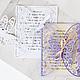 """Свадебные аксессуары ручной работы. Приглашения на свадьбу """"Бабочки"""". Наталья (Evrica). Интернет-магазин Ярмарка Мастеров. Приглашения на свадьбу"""
