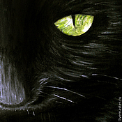 Картины и панно ручной работы. Ярмарка Мастеров - ручная работа Зеленоглазый кот (24 х 30 см). Handmade.