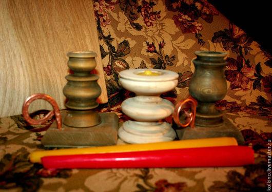 Подсвечники ручной работы. Ярмарка Мастеров - ручная работа. Купить подсвечники. Handmade. Рыжий, нужная вещь, медь