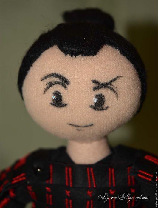 Коллекционные куклы ручной работы. Ярмарка Мастеров - ручная работа. Купить Текстильная кукла Самурай. Handmade. Бежевый, япония