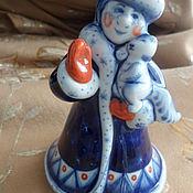 Сувениры и подарки handmade. Livemaster - original item Snow MAIDEN porcelain Gzhel,a single author`s work. Handmade.