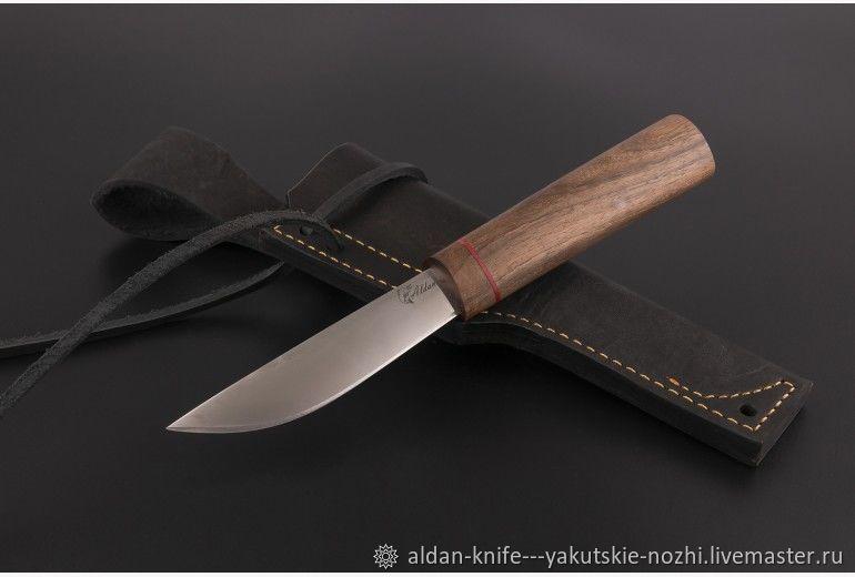 Оружие ручной работы. Ярмарка Мастеров - ручная работа. Купить Нож якутский малый №1 (95х18). Handmade. Дамаск