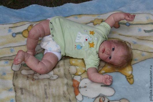 Куклы-младенцы и reborn ручной работы. Ярмарка Мастеров - ручная работа. Купить Кукла реборн Илюша.. Handmade. Зеленый, текстиль