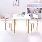 Столы ручной работы. Ярмарка Мастеров - ручная работа Детский комплект Izziwood - 3 (стол+2 стула). Handmade.