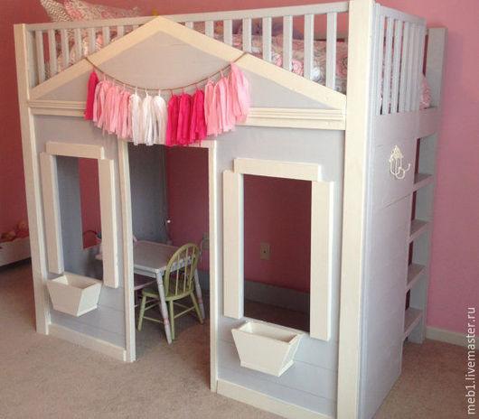 Детская ручной работы. Ярмарка Мастеров - ручная работа. Купить Кроватка-домик №11. Handmade. Кремовый, кровать из дерева, детская