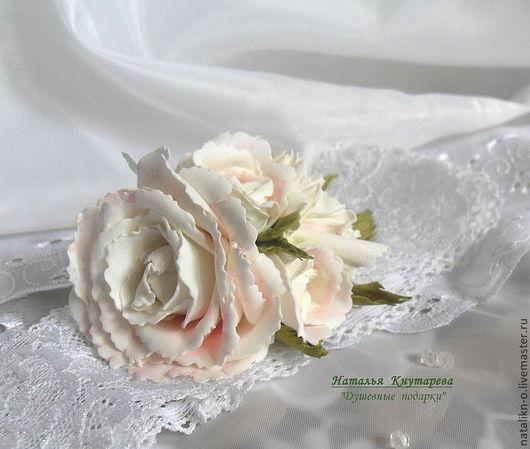 Свадебные цветы ручной работы. Ярмарка Мастеров - ручная работа. Купить Цветы ручной работы. Брошь, заколка, декор для праздничного стола. Handmade.