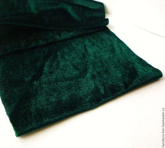 Шитье ручной работы. Ярмарка Мастеров - ручная работа. Купить Велюр зелёный. Отрезы. Handmade. Зеленый, материалы для украшений, велюр
