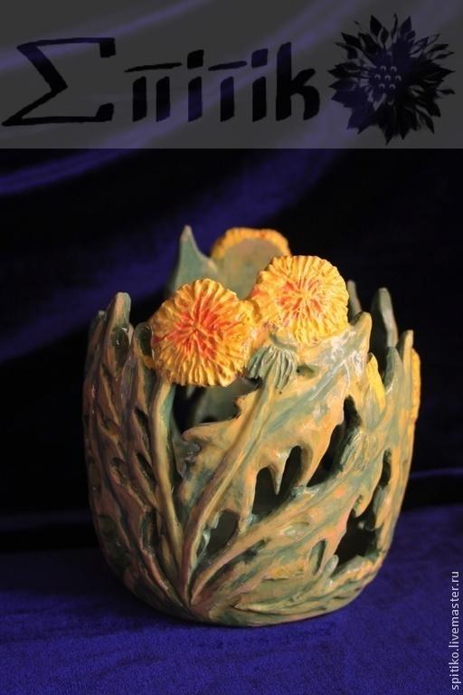 """Вазы ручной работы. Ярмарка Мастеров - ручная работа. Купить Ваза для конфет """"Лето"""". Handmade. Декоративная ваза, ваза для конфет"""