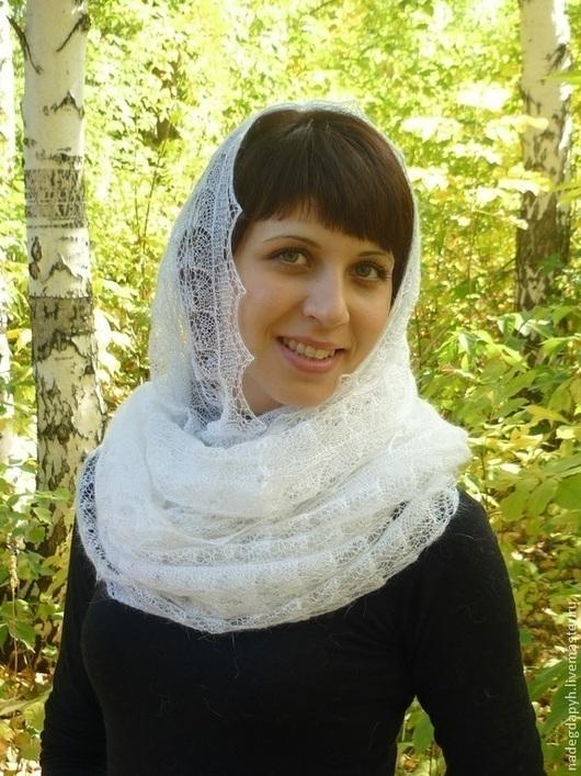 Шали, палантины ручной работы. Ярмарка Мастеров - ручная работа. Купить 91-круговой шарф снуд , вязаный , пуховый. Handmade.
