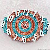 Для дома и интерьера handmade. Livemaster - original item Wall clock with large numbers In the bedroom silent. Handmade.