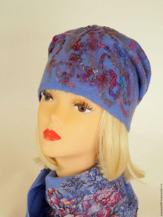Шапки ручной работы. Ярмарка Мастеров - ручная работа. Купить Валяная шапка 2. Handmade. Тёмно-фиолетовый, шапка валяная