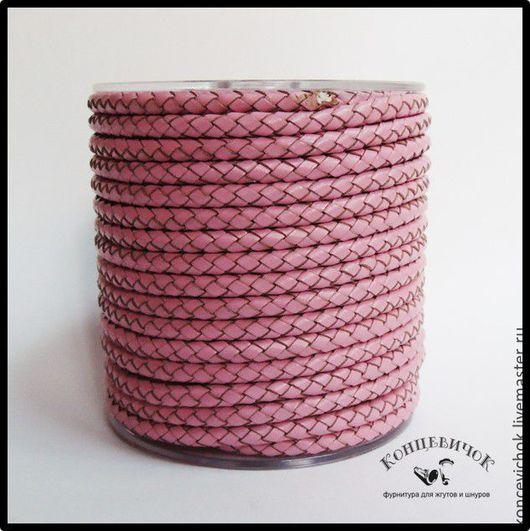 Для украшений ручной работы. Ярмарка Мастеров - ручная работа. Купить Розовый плетеный шнур 5 мм Индия. Handmade.