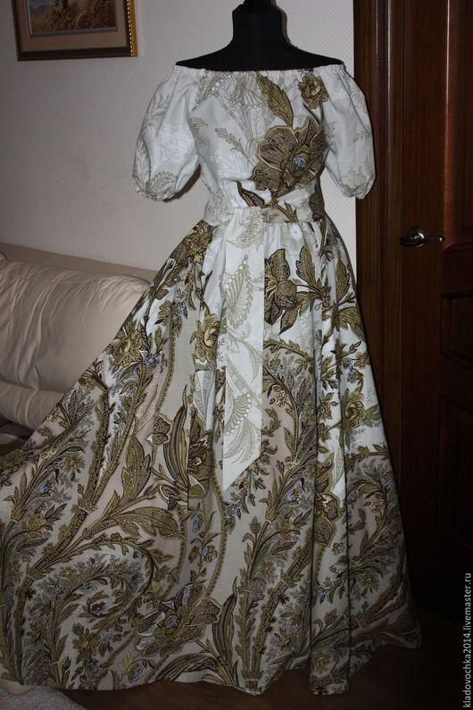 """Платья ручной работы. Ярмарка Мастеров - ручная работа. Купить Платье """"Сливочный Шик"""". Handmade. Бежевый, платье с короким рукавом"""