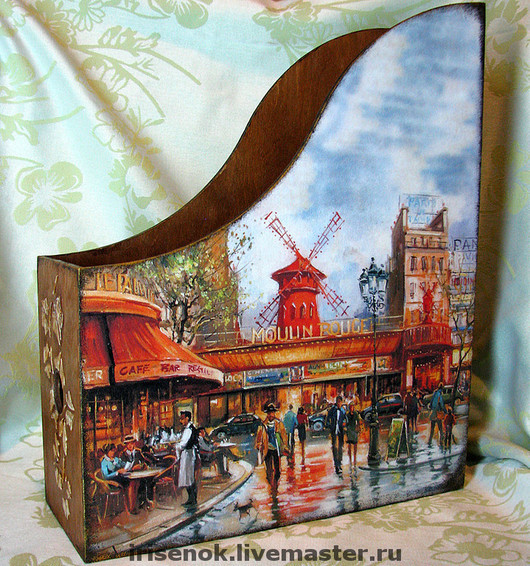 Mag Holders handmade. Livemaster - handmade. Buy 'Autumn in Paris', journalize.Decoupage, gifts for women