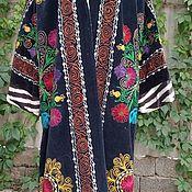 Одежда handmade. Livemaster - original item Uzbek robe made of suzane and ikat. Boho coat, caftan. Handmade.
