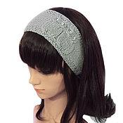 Аксессуары handmade. Livemaster - original item Headband with Owls, knitted womens Grey. Handmade.