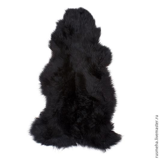 Текстиль, ковры ручной работы. Ярмарка Мастеров - ручная работа. Купить Шкура овчины черная Код: 605. Handmade. Черный