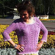 Одежда ручной работы. Ярмарка Мастеров - ручная работа Кофта шелковая Lilac. Handmade.