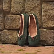 """Обувь ручной работы. Ярмарка Мастеров - ручная работа """"Венеция""""  валяные тапочки-балетки. Handmade."""