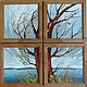 """Пейзаж ручной работы. Ярмарка Мастеров - ручная работа. Купить полиптих из 4-х картин """" Древо жизни"""". Handmade."""