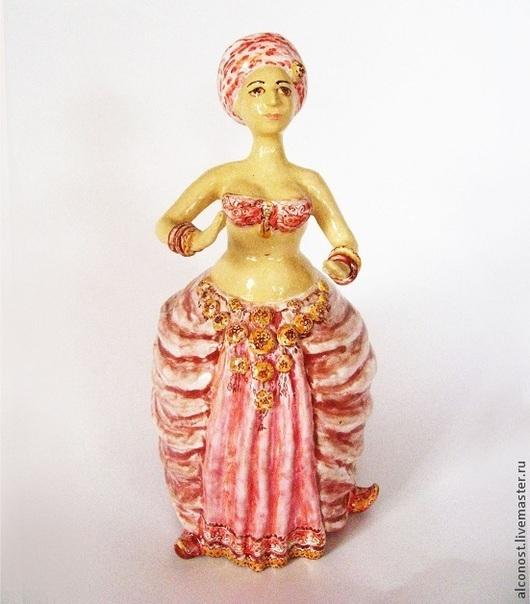 """Колокольчики ручной работы. Ярмарка Мастеров - ручная работа. Купить колокольчик """" Танцовщица"""". Handmade. Розовый, керамика ручной работы"""