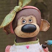 Куклы и игрушки ручной работы. Ярмарка Мастеров - ручная работа Обезьянка и Шуша. Handmade.