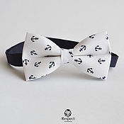 Аксессуары handmade. Livemaster - original item White tie Anchors / party and wedding in a marine style. Handmade.