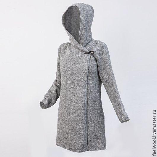 Кофты и свитера ручной работы. Ярмарка Мастеров - ручная работа. Купить Женский свитер-пальто из 100% новозеландской шерсти. Handmade.