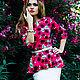 Платье с цветочным принтом от дизайнера Анны Паромской