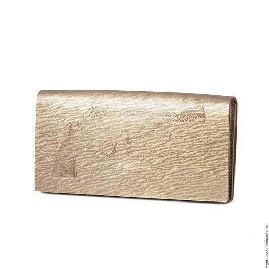 Кошельки и визитницы ручной работы. Ярмарка Мастеров - ручная работа. Купить Кошелек Load Gun, золотой. Handmade. Кошелек, золотой