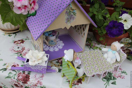Кукольный дом ручной работы. Ярмарка Мастеров - ручная работа. Купить Садовый домик  цветочных фей. Handmade. Кукольный домик