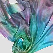 """Аксессуары ручной работы. Ярмарка Мастеров - ручная работа """"Нежность весны"""" шелковый платок с ручным окрашиванием батик. Handmade."""