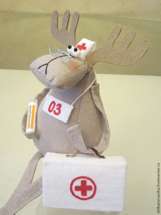 Игрушки животные, ручной работы. Доктор. Автор Шибанова Виктория. Дизайн-студия авторских игрушек `SamiSrukami`. Ярмарка мастеров.