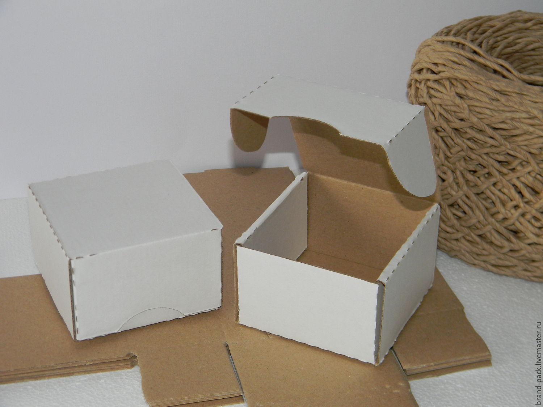 Коробка 9x9x5 см, белая микрогофра, Материалы для творчества, Нижний Новгород, Фото №1