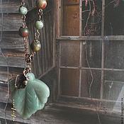 Украшения ручной работы. Ярмарка Мастеров - ручная работа Сотуар Еще зеленый.... Handmade.
