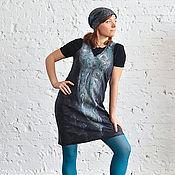 Одежда ручной работы. Ярмарка Мастеров - ручная работа Сарафан цвета мокрого асфальта.... Handmade.