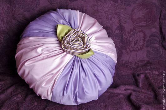 Текстиль, ковры ручной работы. Ярмарка Мастеров - ручная работа. Купить Подушка Орхидея. Handmade. Бледно-сиреневый, подушка на диван