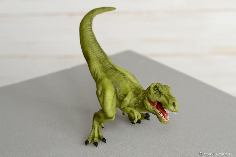 Тиранозавр Рекс.  (из полимерной глины), Игрушки, Москва, Фото №1