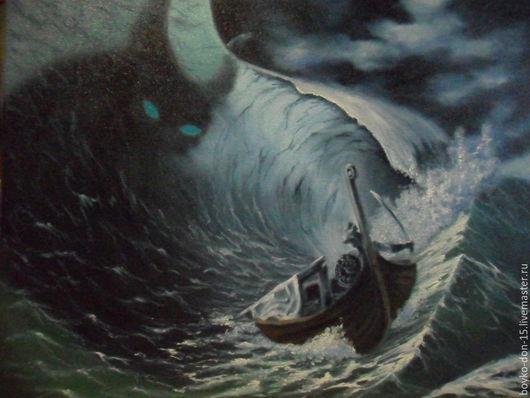 """Пейзаж ручной работы. Ярмарка Мастеров - ручная работа. Купить """"Демоны моря"""" 40х50х.м.. Handmade. Море, морской пейзаж"""
