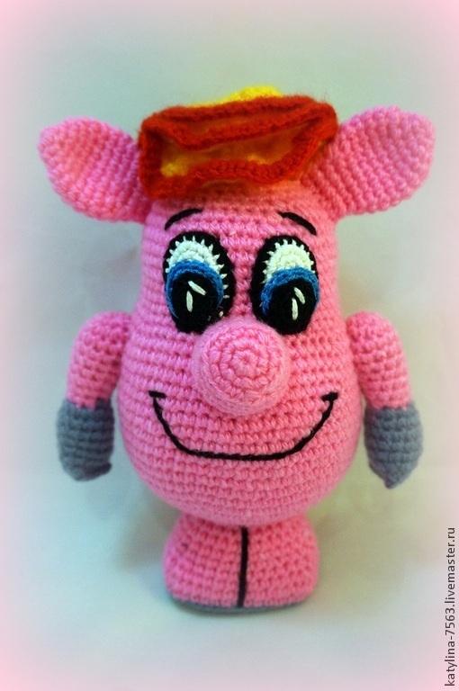 Игрушки животные, ручной работы. Ярмарка Мастеров - ручная работа. Купить Розовая свинка. Handmade. Розовый, игрушка ручной работы