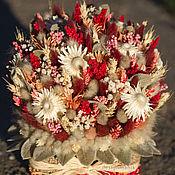 Цветы и флористика ручной работы. Ярмарка Мастеров - ручная работа Композиция из сухоцветов. Handmade.
